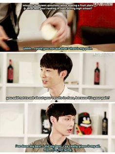 Because we all know Lay probably came to class, and being the confused person he always was, he probably spent the whole time trying to figure out what subject the teacher taught xD