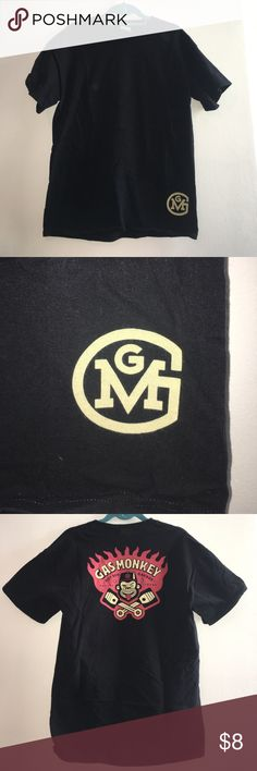 Gas Monkey Garage Tee Black tee in size medium. Front is plain black with the GMG logo in bottom right corner. Back features a more intricate design - see photos. Gildan Shirts Tees - Short Sleeve