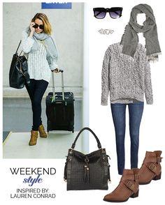 Weekend Style, Lauren Conrad airport style