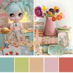 Starting to think about pretty decor for  Easter and these colours are perfect