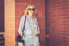 Short jeans dungarees
