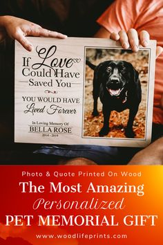 Keep your pet's memory alive with this personalized frame. Vivid colors and crystal clear text are printed directly on the wood. Cat Care Tips, Dog Care, Pet Tips, Pet Memorial Frames, Dog Memorial, Dog Quotes Love, Dog Frames, Pumpkin Dog Treats, Pet Costumes
