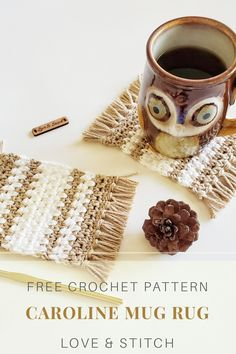 The Caroline Mug Rug pattern is super quick and beginner friendly. The moss stitch allows the stripes to melt so beautifully together to create a modern accessory for your home! Crochet Home Decor, Crochet Crafts, Yarn Crafts, Free Crochet, Crochet Geek, Crochet Humor, Geek Crafts, Easy Crochet, Beginner Crochet Projects