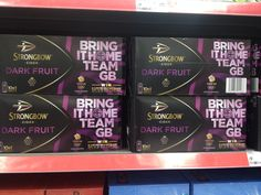 On pack message from Team GB sponsor Strongbow in Asda