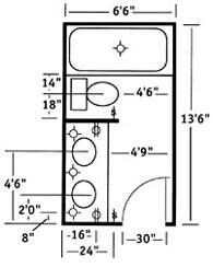 Possible Bathroom Layout Allow Width Of More Than 7 Ft And One Pedestal Sink Pout On Right Shower