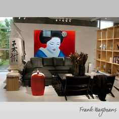 Interior Design Contemporary Art. Amazing painting of a Geisha. Portrait from Dutch portrait artist Frank Wagtmans. Art & Interior Design. Only one copy exists of each artwork. Every painting is exclusive and personally signed by the artist. #geisha #portrait #interiorstyling #homestyling #homeinterior #painting #portrait #largepainting #luxuryinterior #asianinspiration #asianinterior #housedecoration #design