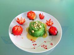 Bánh đúc lá dứa | Pandan rice cake with coconut syrup