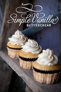 yummy, easy vanilla buttercream!  Simply vanilla and simply divine!  #thegreatpinteresthunt