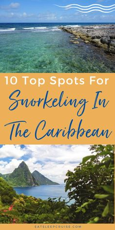 Are you taking a Caribbean cruise or otherwise traveling to the Caribbean? Then you don't want to miss the opportunity to snorkel in these crystal blue waters. Here we share our guide to the top 10 spots to snorkel in the Caribbean. No matter your cruise line (Carnival, Royal Caribbean, Princess, etc.), there will be amazing snorkeling. From Cayo Diablo National Park to Tobago Cays just to name a few. Don't forget your waterproof camera so you can share the experience with friends & family! Cruise Excursions, Cruise Destinations, Amazing Destinations, Packing List For Cruise, Cruise Vacation, Southern Caribbean, Royal Caribbean, Caribbean Vacations, Caribbean Cruise