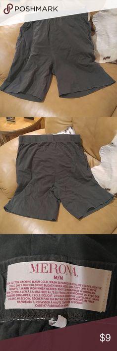 Merona Men's Medium Lounging Shorts Charcoal Gray Merona Men's Medium Lounging Shorts Charcoal Gray Merona Shorts