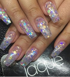 fashion, glitter, and long nails image