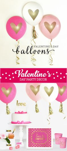 Valentines Day Decorations - Valentines Day Party Decorations Ideas - Valentines Day Gift for Her for Kids   (EB3110HRT) -SET of 3 Balloons