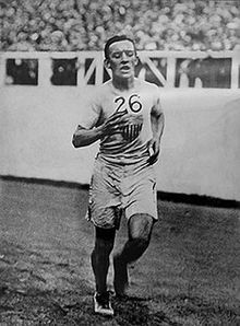 MARATHON - OLYMPICS: Johnny Hayes  won the Gold for the United States in the 1908 Olympics when the Italian Pietro finished 75 yards ahead of Hayes, but was ruled to have received assistance from the umpires