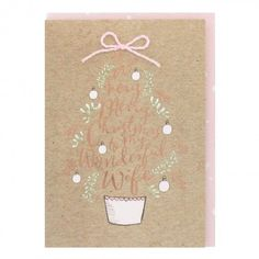 Christmas tree wife Christmas card
