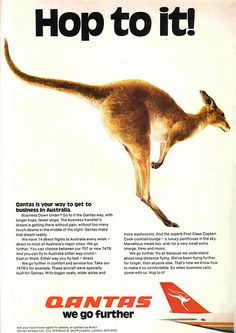 Qantas. Hop to it, they said! Use your Qantas Frequent Flyer points before they expire. Get an upgrade, etc. :)