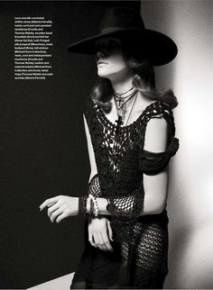 Gothic Gypsy meets Mysterious yet Seductive Woman via ELLE CANDA JUNE 2012