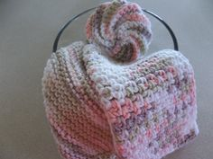 Hand Knit and Crochet  Dish Cloths and  1 by DelsYarnBasket, $7.15