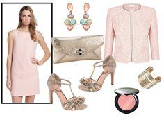 Look para boda vestido rosa palo
