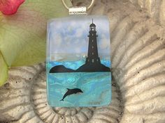 Dichroic Glass Jewelry   Lighthouse Jewelry  Dichroic by ccvalenzo, $28.00
