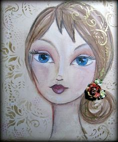 by françoise IMG_6589 Girls 4, Art Projects, Mixed Media, Scrap, Princess Zelda, Portraits, Fictional Characters, Toddler Girls, Women