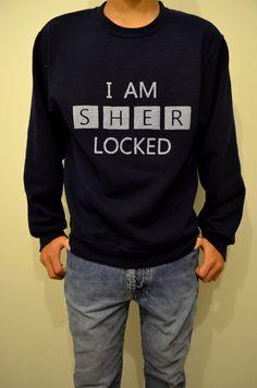 I AM SHERLOCKED Navy Blue Unisex Sweatshirt by BoomPow on Etsy, $21.99