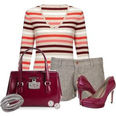 Preppy chinos, created by mommygerloff on Polyvore