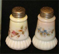 Antique MT Washington Egg Shaped Pair of Shakers Enamel Fabulous Pink   eBay