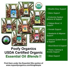 USDA Certified Organic Essential Blends -- Buy online or host a party to earn them for free! Essential Oils For Sleep, Organic Essential Oils, Essential Oil Blends, Boost Immune System, Endocrine System, Carrier Oils, Host A Party, Natural Healing, Essentials
