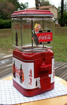 *VINTAGE 1950s OAK Brand *COCA COLA* Gumball Peanut and Candy vending machine
