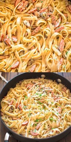 This Pasta with Mushrooms and Kielbasa makes absolutely scrumptious, one-pot dinner! Ready in less than 30 minutes. Kalbasa Recipes, Best Pasta Recipes, Pasta Dinner Recipes, Healthy Recipes, Kielbasa Pasta Recipes, Pork Sausage Recipes, Kielbasa Sausage, Pasta Menu, Pasta Dishes