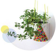 cute!!! DIY pots by Peaches + Keen