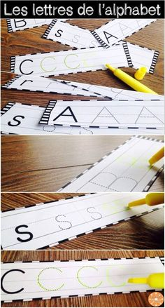 L'alphabet - écriture des lettres. Excellente activité à ajouter dans le centre d'écriture pour pratiquer les lettres majuscules et minuscules.