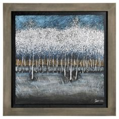 Shop for Ren Wil Patrick St-Germain 'Opalescent Trees I' Hand-painted art. Get free delivery On EVERYTHING* Overstock - Your Online Art Gallery Store! Frame Wall Decor, Frames On Wall, Wall Art Decor, Hand Painting Art, Painting Frames, Framed Artwork, Framed Wall, Art Of Living, Texture