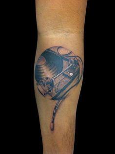 #toca-discos #vinil #tattoo