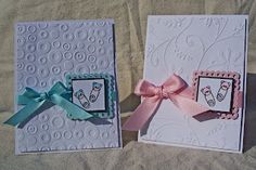 Baby Cards with Cuttlebug