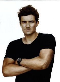 Orlando Bloom - present, although, I do think he looked the hottest with elven ears and blonde hair...just sayin'. lol.