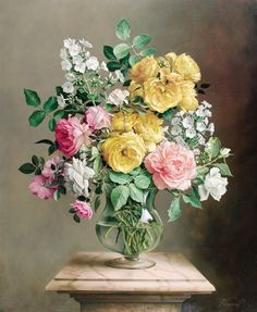 art deco home decor Beautiful Flower Arrangements, Floral Arrangements, Flower Of Life, Flower Art, Shabby Chic Painting, Wonderful Flowers, Arte Floral, Botanical Prints, Beautiful Paintings
