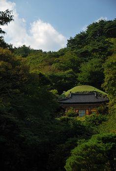 Location of Seokguram Grotto, National Treasure #24, Gyeongju, Korea