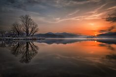 Sunrise with reflection by c1113 on 500px