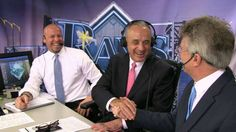 MLB Commissioner Rob Manfred visits the Trop to see the Rays opening game and talks to the  Rays' TV broadcasting crew - Brian Anderson & Dwayne Staats -  & the Rays'  future in the Tampa Bay area. (4-3-16)