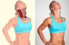 Related muscles: Sternocleidomastoid muscle (located on both sides of the neck). - İlgili kaslar: Sternokleidomastoid (Boynun her iki tarafınfa bulunan) kas. Related muscles: Sternocleidomastoid muscle (located on both sides o. Wellness Fitness, Yoga Fitness, Health Fitness, Muscle Stretches, Stretching Exercises, Massage Dos, Sternocleidomastoid Muscle, Psoas Release, Fitness Bodybuilding