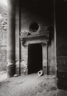 Side doorway of Al-Khazneh, in Petra, Jordan. - Side doorway of Al-Khazneh, in Petra, Jordan. Aurora, A Well Traveled Woman, Dark Places, Grand Tour, Photo Black, Ancient Civilizations, Light And Shadow, Doorway, Ancient History