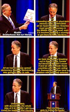 Jon Stewart, as always, is spot on.