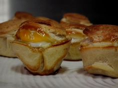 Adding bacon & egg pies to breakfast. Egg Pie, Bacon Egg, Muffin, Vegetables, Amp, Breakfast, Food, Morning Coffee, Egg Tart