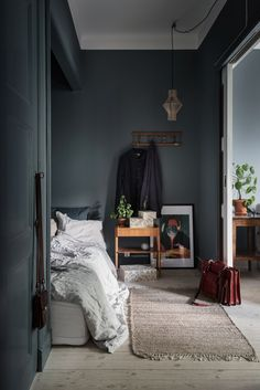 """Move Over, Minimalism: The """"New Victorian"""" Look is On the Rise - """"Victorian Modern"""" Style: The New Trend in Decorating home decor apartment therapy Scandinavian Interior Design, Scandinavian Home, Home Interior, Scandinavian Apartment, Interior Plants, Contemporary Interior, Bedroom Green, Home Bedroom, Bedroom Decor"""