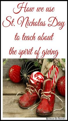 How we use St. Nicholas Day to teach our older kids about the spirit of giving Christmas Movie Night, Christmas Parties, Christmas Recipes, Holiday Recipes, Christmas Ideas, Simple Christmas, Family Christmas, Christmas And New Year, Winter Christmas