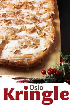 Oslo Kringle is a delicious Norwegian dessert with the flavor and texture of a cream puff but with a simpler preparation and fjords of delicious almond icing. Norwegian Cuisine, Norwegian Food, Kinds Of Desserts, Just Desserts, Dessert Recipes, Health Desserts, Swedish Recipes, Norwegian Recipes, Norwegian Cake Recipe