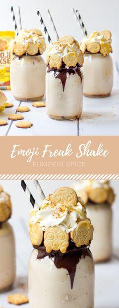 Pumpkin Spice Emoji Freak Shake