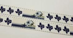 "6 Yards 1"" Dallas Cowboys  Football Inspired Grosgrain Ribbon #Unbranded"