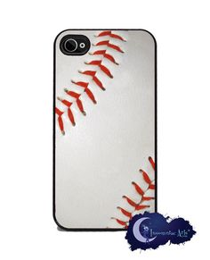 Baseball iPhone Cover Free US Shipping by InsomniacArts on Etsy, $15.99 things for Kenton!!